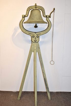 106. Virginina Metalcrafters Farm Bell on Stand    $276.75