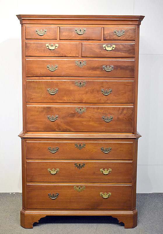 111. Chippendale Walnut Chest on Chest |  $1,298