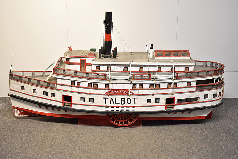 118. Large Folk Art Scale Model Sidewheeler |  $708