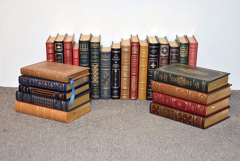 124. Twenty-five Leather-Bound Books |  $295