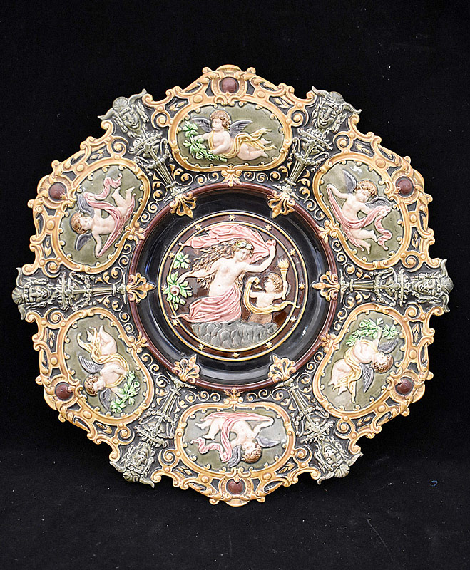 131A. Majolica Porcelain Charger |  $123