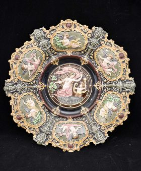 131A. Majolica Porcelain Charger    $123
