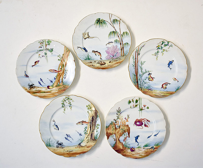 132. Five Continental Porcelain Plates |  $123