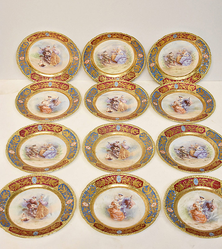 134. Twelve Royal Vienna Porcelain Plates |  $826