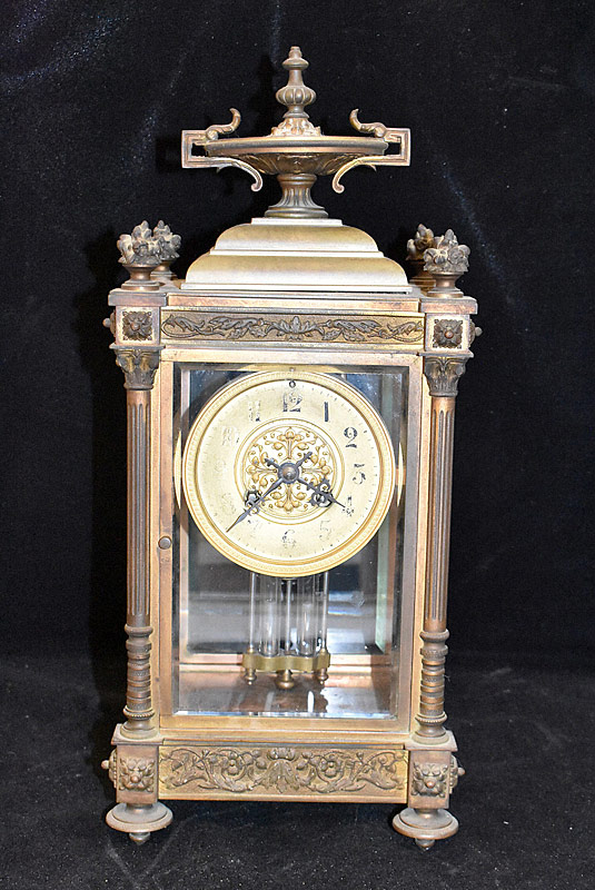 135. French Crystal Regulator Mantle Clock |  $265.50