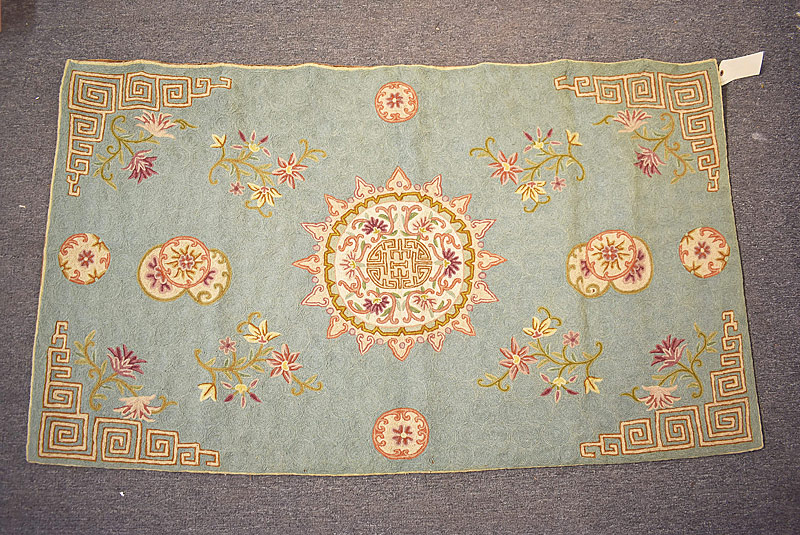 136. Crewelwork Tapestry with Central Medallion |  $49.20