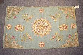 136. Crewelwork Tapestry with Central Medallion    $49.20