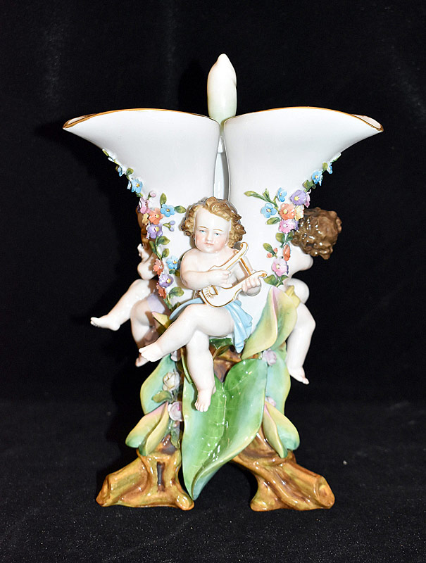 146. Meissen Figural Vase with Cherubs |  $354
