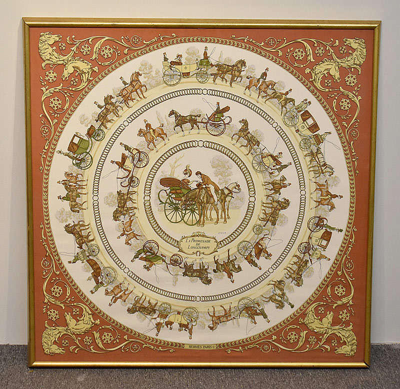 147. Framed Hermes Silk Scarf by Ledoux |  $206.50