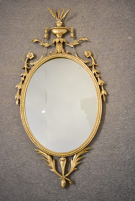 150. Gilt and Gesso Adams-Style Mirror |  $123
