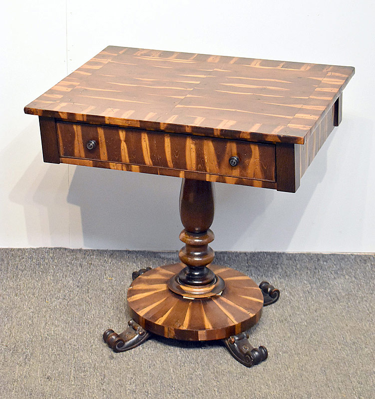 163. Regency Calamander Wood Work Table |  $461.25