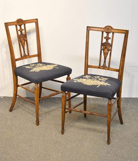 165. Pr. Federal Carved Side Chairs    $49.20