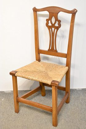 166. Antique Chippendale Side Chair    $23.60