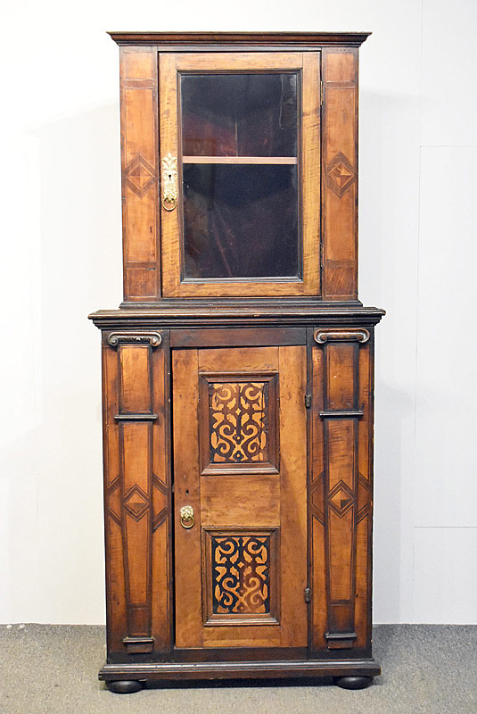 167. Inlaid Two-Part Corner Cupboard |  $177