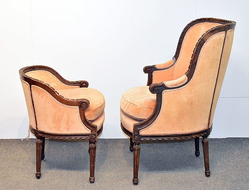 170. Antique Louis XVI-Style Two-Part Chaise |  $86.10