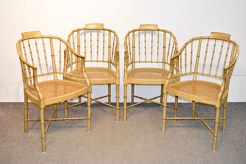 180. Four Baker Faux Bamboo Chairs |  $738