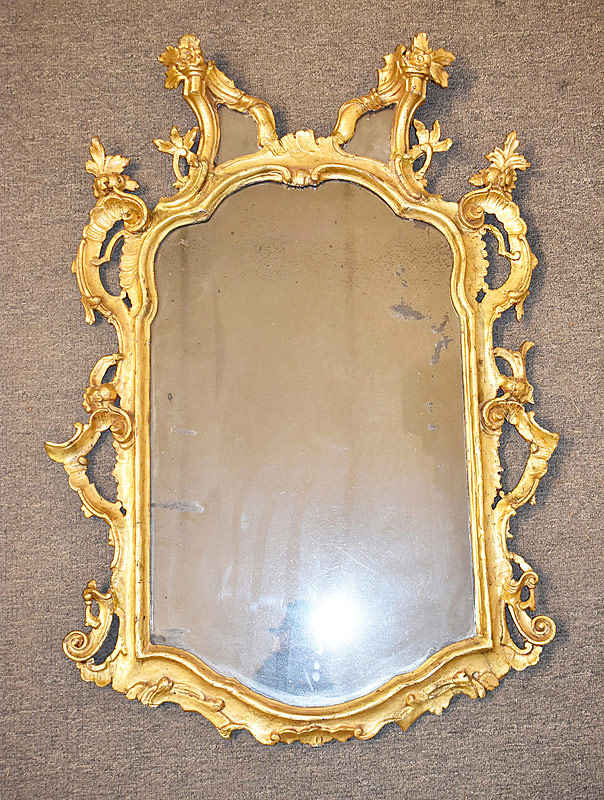 182. Antique Mirror with Gilt Foliate Frame |  $147.50