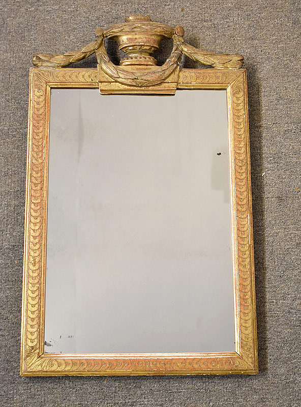 183. Antique Gilt-Framed Mirror with Urn Crest |  $430.50