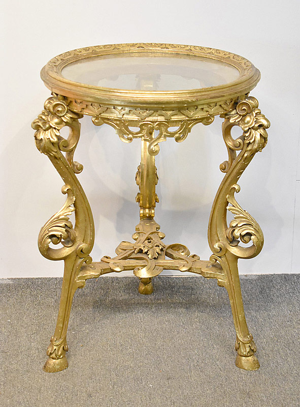 184. Louis XV-Style Giltwood Table |  $584.25