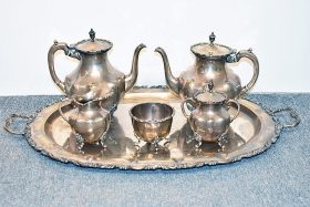 186. A. Torres Vega Mexican Sterling Coffee/Tea Svc.    $2,360