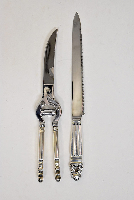 190. Georg Jensen Carving Knife & Poultry Shears |  $123