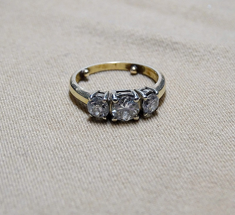 197. Tri-Diamond Ring |  $649
