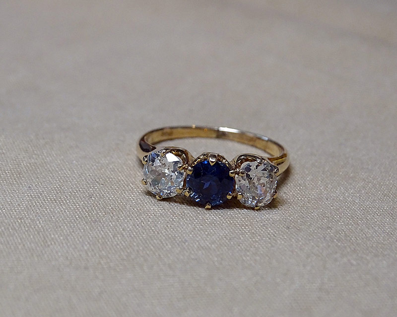 203. Diamond and Sapphire Ring |  $2,596