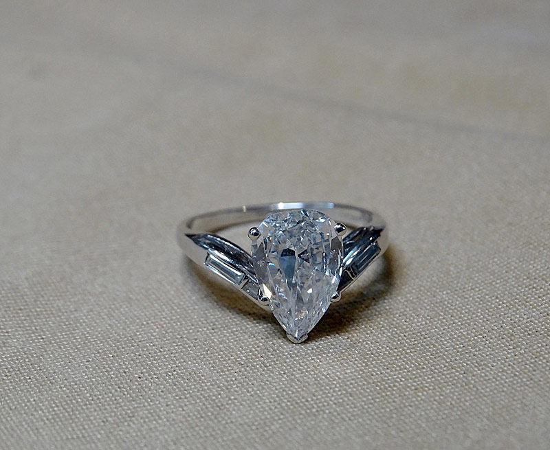 204. Pear-Cut Diamond Ring |  $4,720