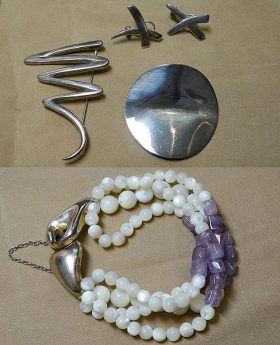 209. Silver and Mother of Pearl Jewelry Lot    $110.70