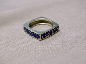 215. Gold and Enamel Ring    $147.50