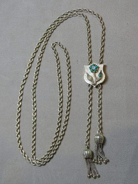 220D. Turquoise and Diamond Slide on Chain    $826