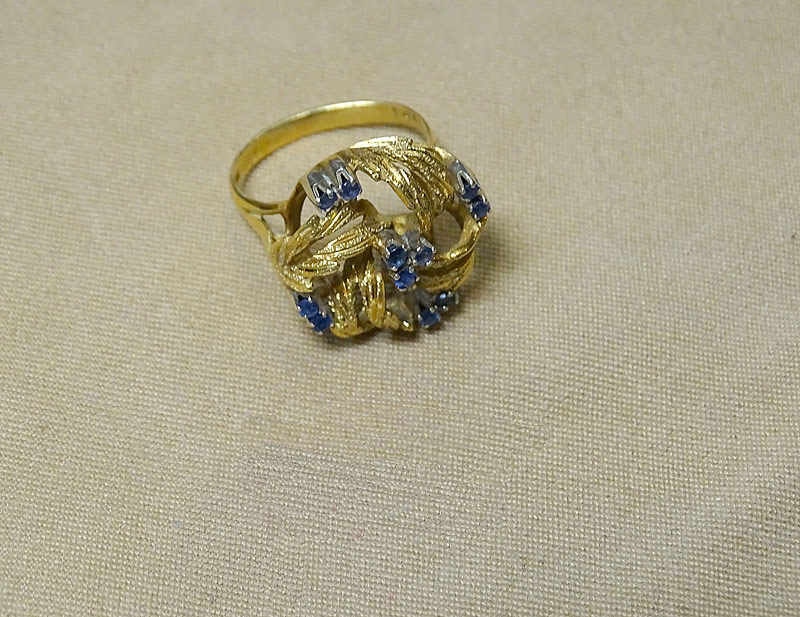 220F. Gold and Sapphire Ring |  $206.50