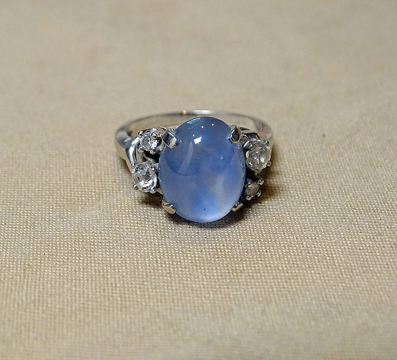 220I. Star Sapphire and Diamond Ring |  $767