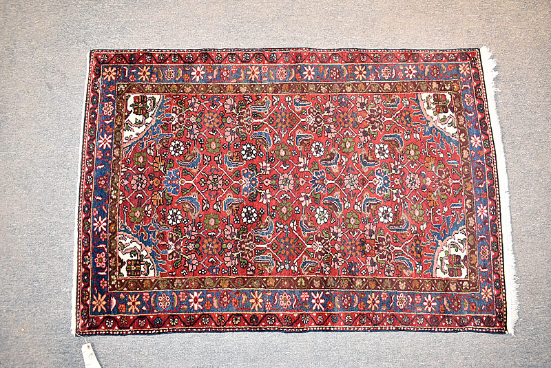 221. Oriental Area Carpet, 4ft 10in x 3ft 3in |  $330.40