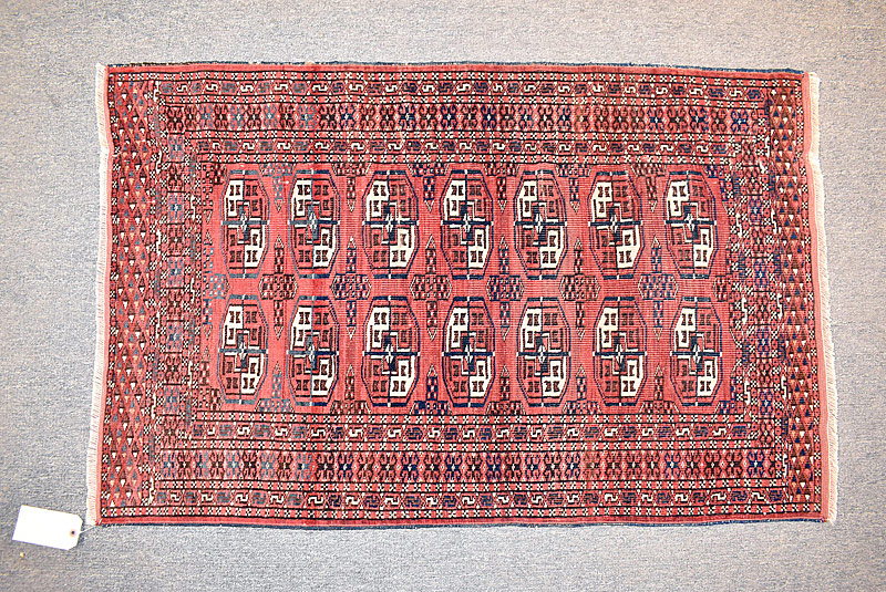 223. Bokhara Area Carpet, 4ft 4in x 2ft 9in |  $206.50