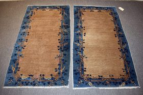 225. Pr. Chinese Deco Area Carpets, 5ft 8in x 3ft 1in    $153.75