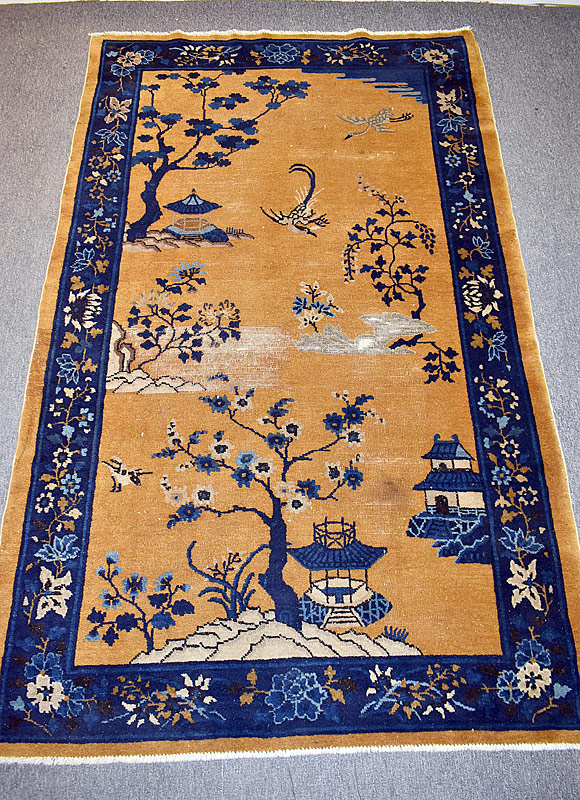226. Chinese Deco Area Carpet, 6ft 9in x 4ft 1in |  $147.50