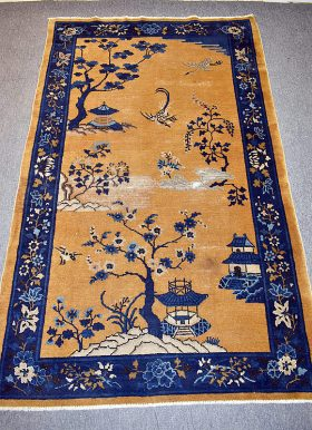 226. Chinese Deco Area Carpet, 6ft 9in x 4ft 1in    $147.50
