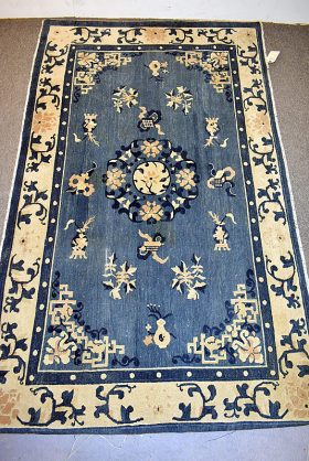 227. Chinese Deco Area Carpet, 7ft 11in x 4ft 8in    $236