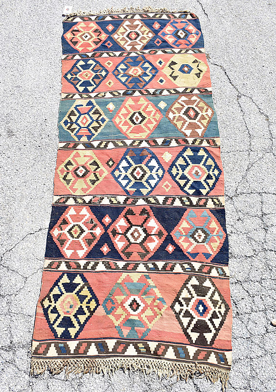 236. Kilim Runner, 8ft 6 in x 3ft 4in |  $153.75