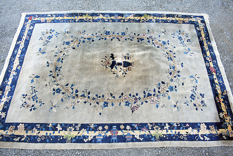 243. Chinese Deco Room-size Carpet, 11ft 6in x 8ft 1in |  $59