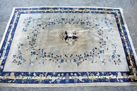243. Chinese Deco Room-size Carpet, 11ft 6in x 8ft 1in    $59