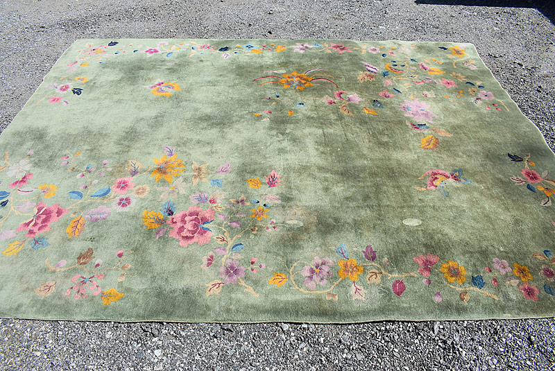 249. Chinese Deco Room-size Carpet, 11ft 5in x 8ft 10in |  $295