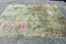 249. Chinese Deco Room-size Carpet, 11ft 5in x 8ft 10in    $295
