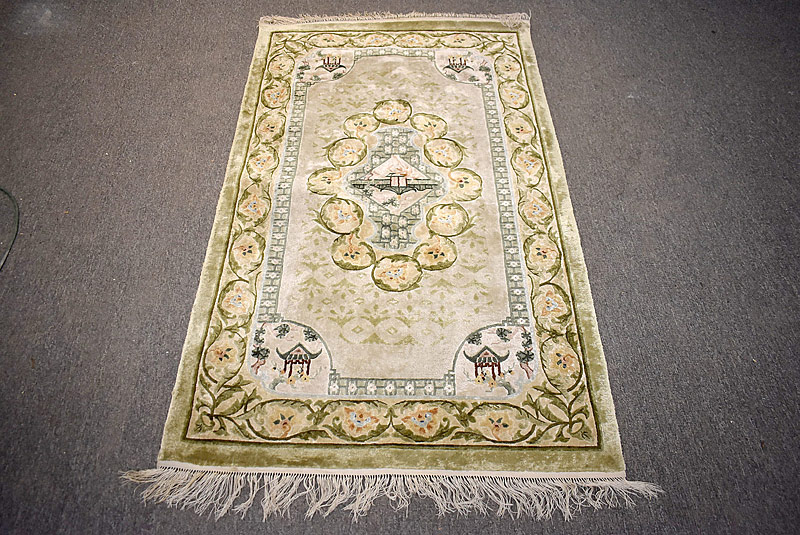 251B. Chinese Silk Area Carpet, 5ft x 3ft |  $153.75