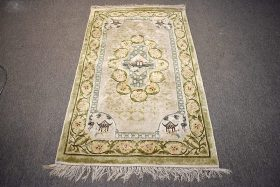 251B. Chinese Silk Area Carpet, 5ft x 3ft    $153.75
