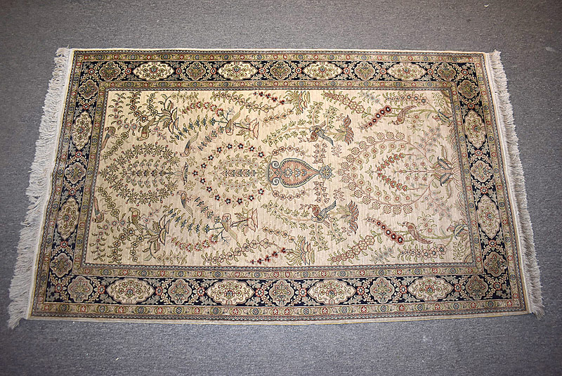 251C. Chinese Silk Area Carpet, 5ft x 3ft |  $295