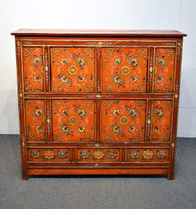 252. Asian Paint-Decorated Cabinet    $153.75