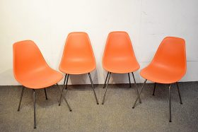 256. Four Eames for Herman Miller Shell Chairs    $354