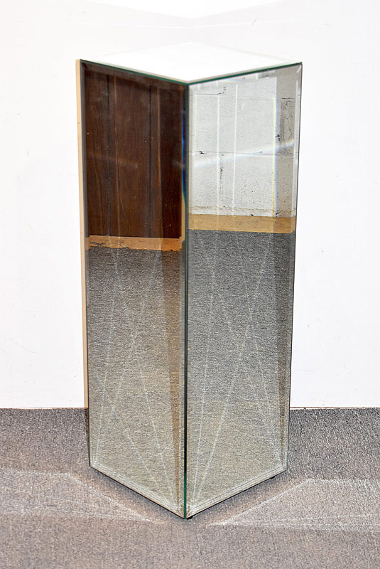 261. Modernist Beveled-glass Mirrored Pedestal |  $61.50